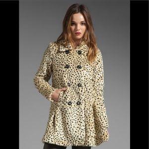 Free People Leopard Coat